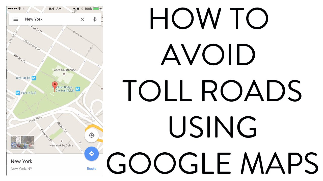 HOW TO AVOID TOLL ROADS USING GOOGLE MAPS YouTube - Us map toll roads