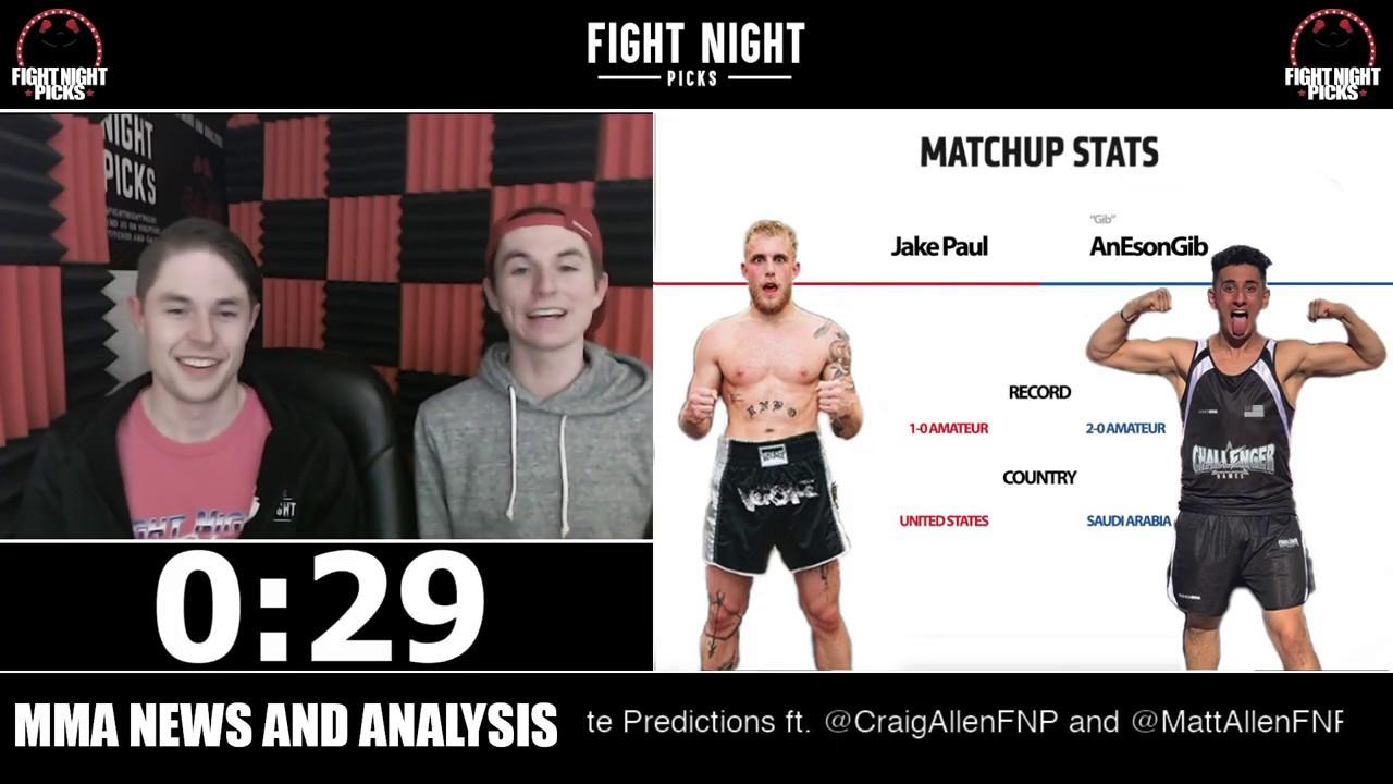 Jake Paul Vs. AnEsonGib Live Results, Odds, Prediction