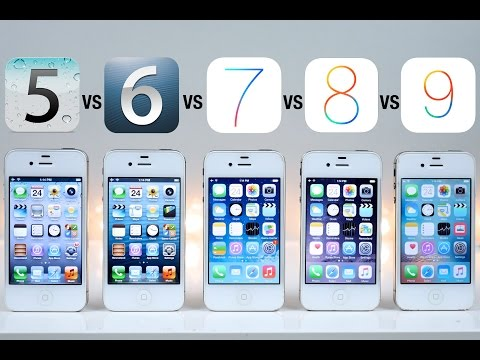 more photos be2b5 d268e iOS 5 vs iOS 6 vs iOS 7 vs iOS 8 vs iOS 9 on iPhone 4S Speed Test ...