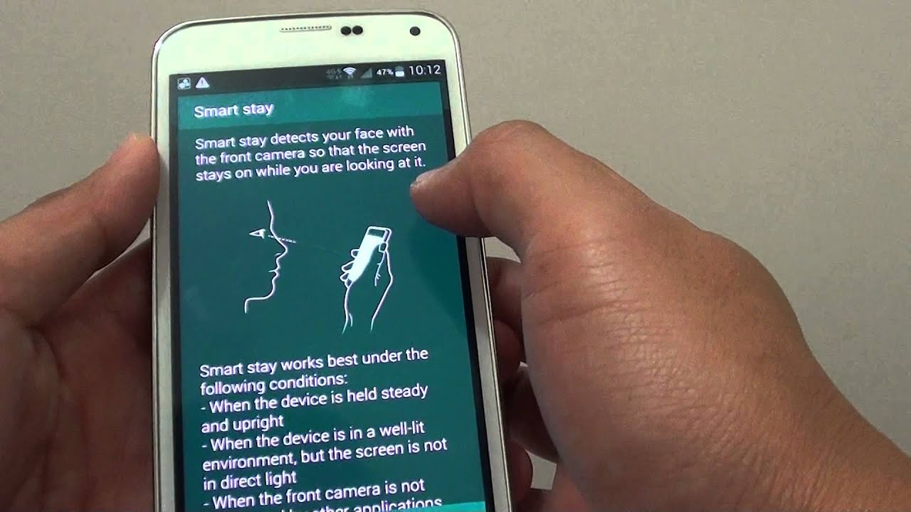 Samsung galaxy s5 how to enabledisable smart stay to keep screen samsung galaxy s5 how to enabledisable smart stay to keep screen on youtube biocorpaavc Images
