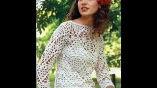 Филейное Вязание Крючком - Летние Кофты 2018 / Knit Hooked Knitwear Summer Sweatshirts