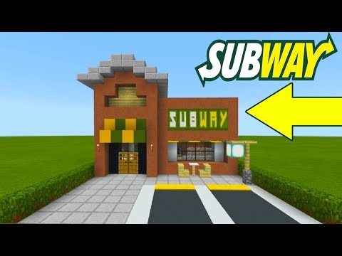 "Minecraft Tutorial: How To Make A Subway (Restaurant) ""2019 City Tutorial"""