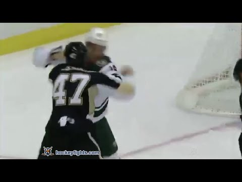 Jason Zucker vs Simon Despres Sep 25, 2014