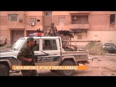 LIBYA AIRFORCE ATTACK TRIPOLI AIRBASE