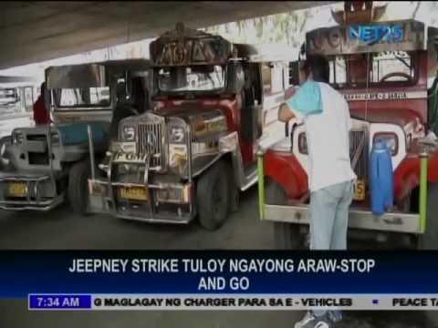 Jeepney strike ng Stop and Go, tuloy ngayong araw