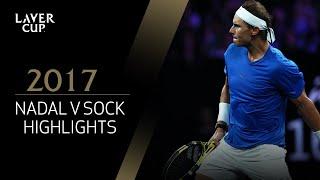 Rafael Nadal v Jack Sock highlights (Match 6)   Laver Cup 2017