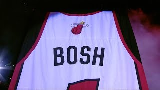 Chris Bosh Gets Miami Heat Jersey Retired And Hung In The Rafters