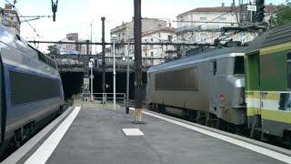 FR#94 - Trafic intense en gare de Montpellier-St-Roch: TGV AVE Intercités FRET Infra TER - 17/06/16