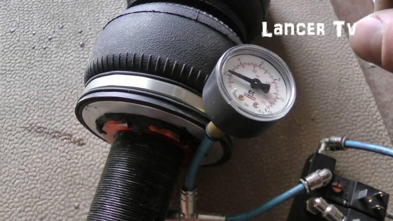 Пневмоподвеска на Lancer X