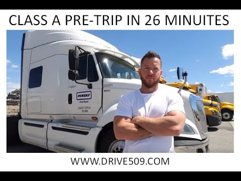 HOW TO PASS A Class A Pre trip inspection in 26 minutes www.