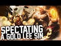 COACHING A GOLD LEE SIN | Spectating One of my Fans on Lee Sin - League of Legends