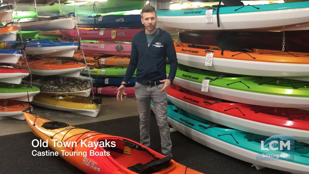 Old Town Castine Touring Kayaks - Castine 135, 140, and 145 - YouTube