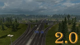 This mod removes old ugly interchange at Rotterdam~Brussel A1 Highway with Calais Duisburg road junction and it places hand made, brand new and better interchange.  This map mod is not dependent on map DLCs. It can be played with NO DLCs or with every DLC