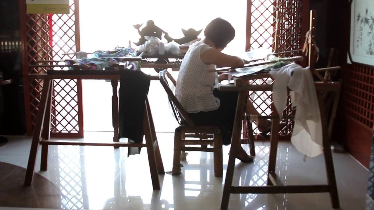 Art Of Silk The Making Of Our Silk Embroidery Art Youtube