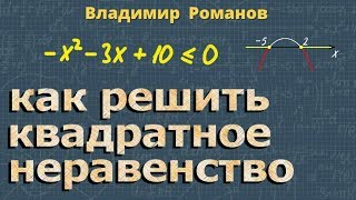 алгебра КВАДРАТНЫЕ НЕРАВЕНСТВА 8 и 9 класс