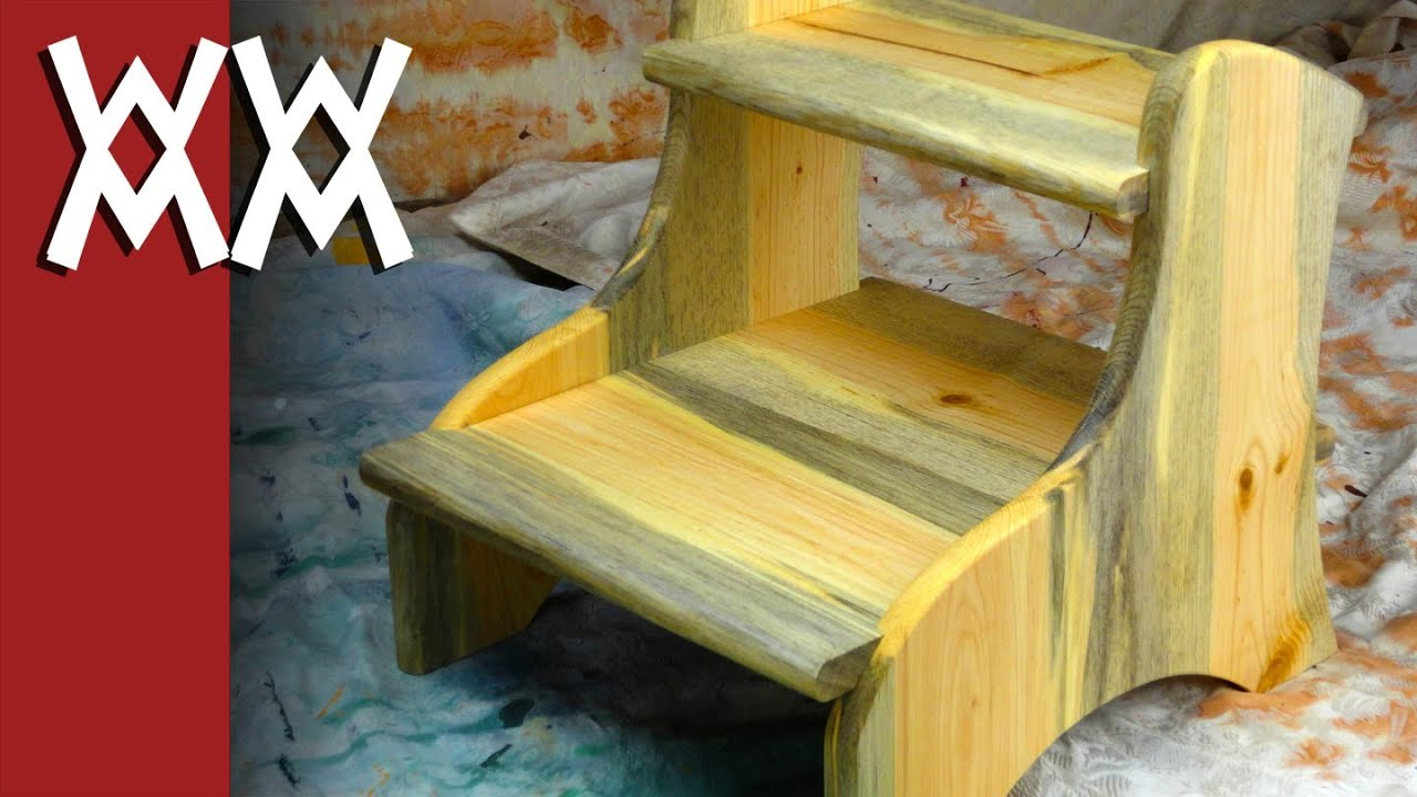 Sturdy Easy To Build Two Step Step Stool Youtube