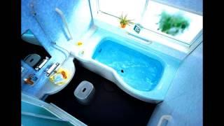 Дизайн маленькой ванной комнаты(Красивые варианты дизайна маленькой ванной комнаты. Видео интерьера маленьких ванных комнат., 2013-07-15T10:41:35.000Z)