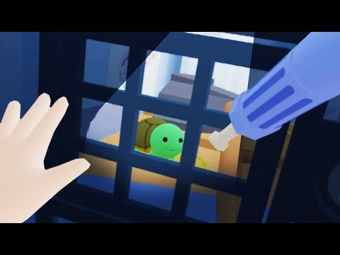 BABY BREAKS TURTLE OUT OF PRISON IN VIRTUAL REALITY!! (Baby Hands VR HTC Vive)