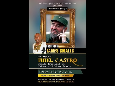 Prof. James Small Coming Soon To Baltimore, MD Friday Dec  23rd 2016
