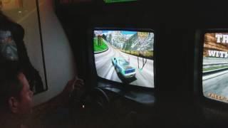 CRAZY! Daytona USA Arcade drifting gameplay