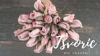 простые розы для букета из бумаги / DIY TSVORIC / Simple roses for a bouquet of paper