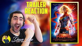 CAPTAIN MARVEL - Official Trailer 2 Reaction & Review