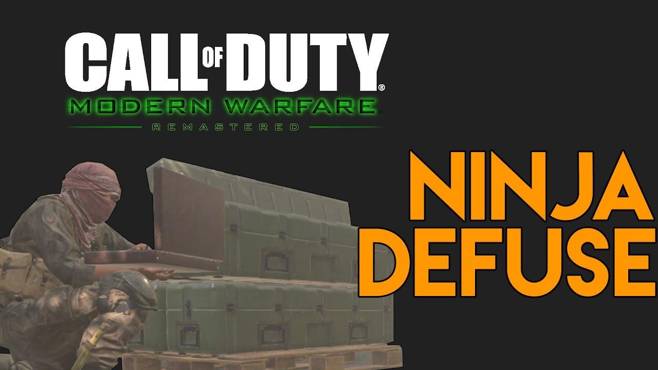 Modern Warfare Remastered - Ninja Defuse Montage #1 (Ninja Defuses, Funny Moments, Trolling & Fails)