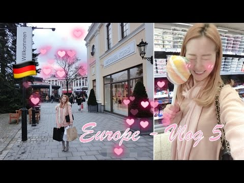 EUROPE 🇪🇺 VLOG 5 - SHOPPING IN GERMANY - CANDY SHOPPING & DESIGNER OUTLET NEUMÜNSTER ♥