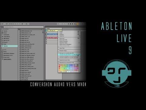 Ableton Live 9: Conversion audio vers midi