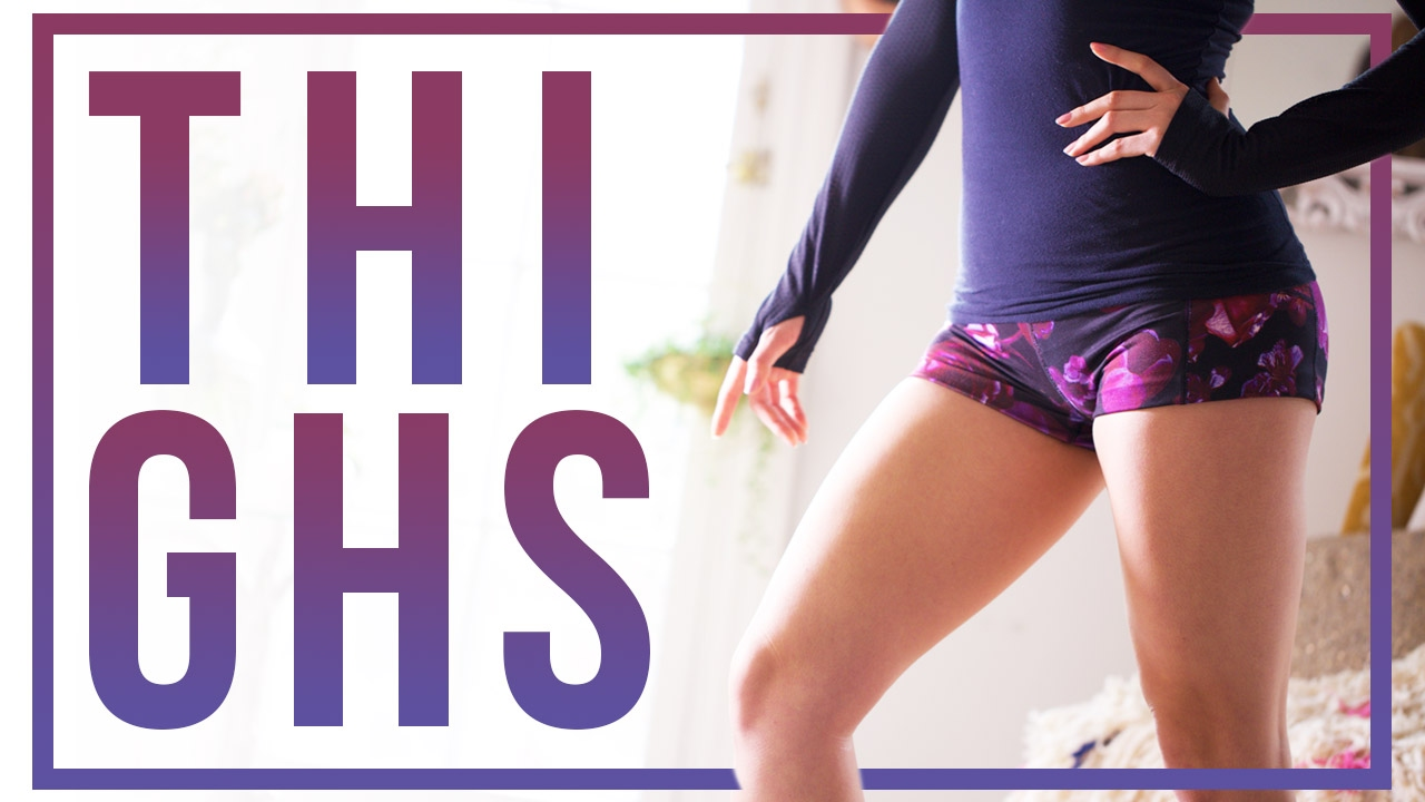 Best Thigh Exercises for Toned Legs! (At Home No Equipment Workout Routine)