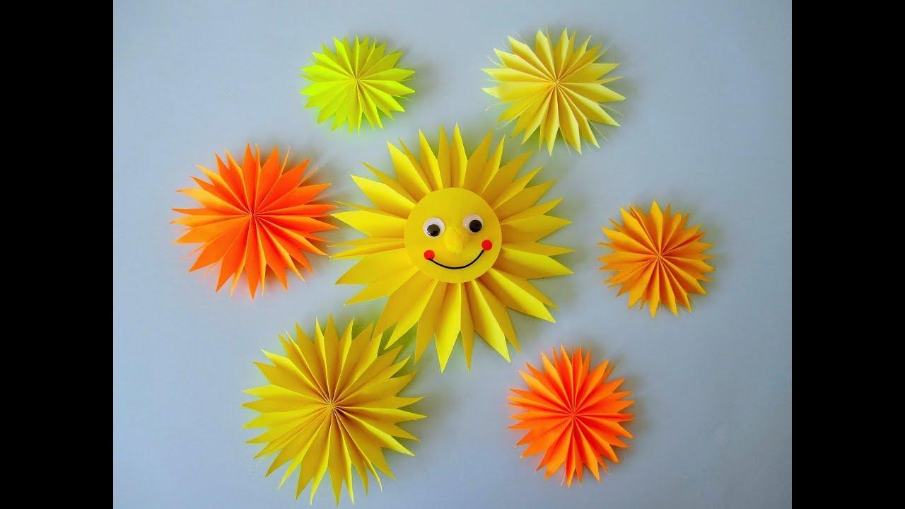 Eine Sonne Basteln Bastelideen Mit Dem Pappteller 1