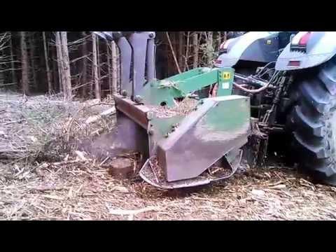 Hervé Page - Travaux forestiers - Broyage Tracteur Fendt 300 CH & broyeur BF 700 à marteaux fixes