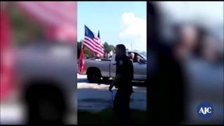 Watch heated confrontation over Confederate flag