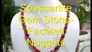 Spessartite Garnet Gemstone Beads