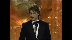 Tom Cruise Wins Best Actor Motion Picture - Golden Globes 1990