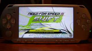NFS Need for Speed Shift on PSP 3000 with ChickHEN R2 and CFWEnabler 3.60