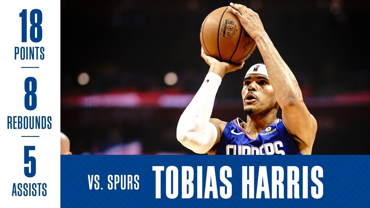 Tobias Harris Highlights vs  Spurs | 11/15