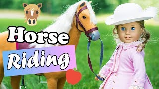 Early Morning Horse Ride with Elizabeth! American Girl Doll Photography AGPS
