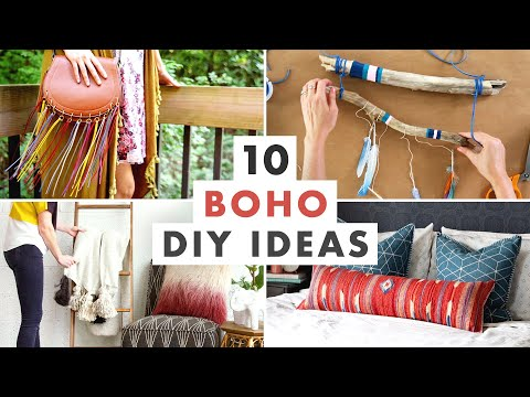 10 Boho Decorating DIYs – Bohemian Wall Art, Macrame and Furniture Projects – HGTV Handmade