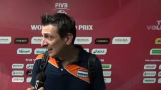 19-06-2016: Bari WGP - Giovanni Guidetti dopo Olanda-Thailandia 3-0
