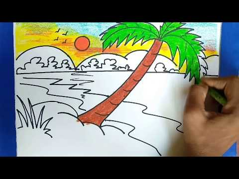 hou to draw a landscape kids drawing,step by step (very simple and easy )episode-1