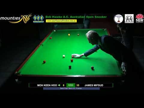 Semi Final and Final of the 2018 Bob Hawke A. C. Australian Open Snooker Championship