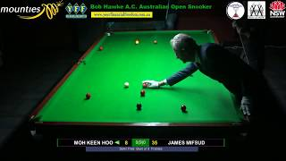 Semi Final and Final of the 2018 Bob Hawke A. C. Australian Open Snooker Championship