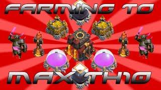 Clash of Clans - Farming To Max TH10 Ep. 9 - 800k Raid & Upgrades Yo