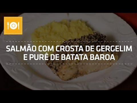 Salmão com Crosta de Gergelim e Purê de Batata Baroa | Receita Fit | Shoptime