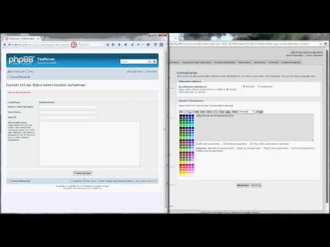 phpBB-Tutorial: die Kontaktseite anpassen