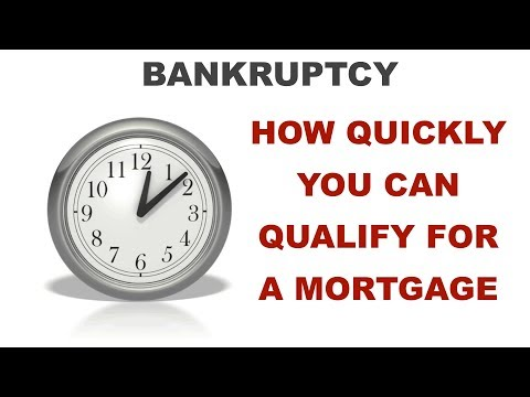 How soon can you qualify for a mortgage after bankruptcy?