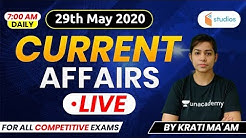 Current Affairs | Current Affairs 2020 by Krati Ma'am | 29th May 2020