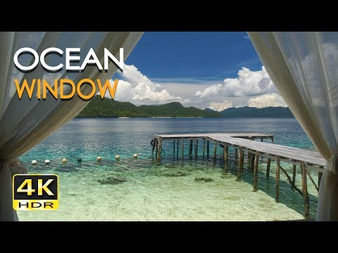 4K HDR Ocean Window - Tropical Sea View - Relaxing Lapping W