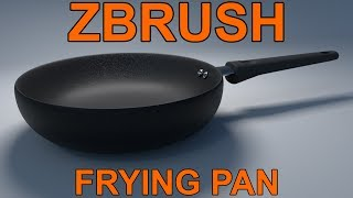 zBrush: Model a Frying Pan Tutorial